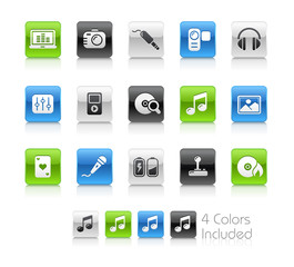 Entertainment / The vector includes 5 colors in different layers