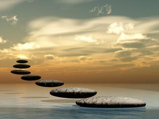Path form zen stone to sun