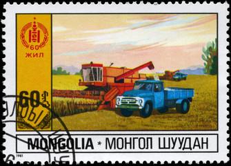 MONGOLIA - CIRCA 1981 Agriculture