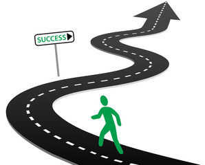 Initiative begin journey highway curves to success