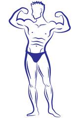 muscle man, vector