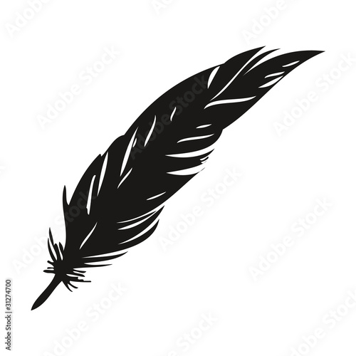 Plume vecteur criture dessin livre stock image and royalty free vector files on - Plume coloriage ...