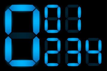 Set of digital numbers