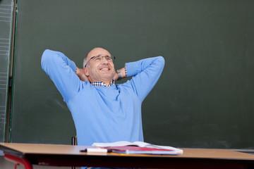 glücklicher lehrer