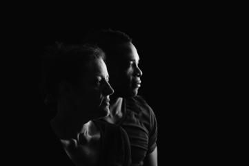 black & white couple