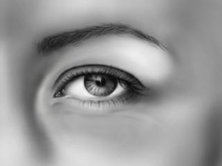 Eye / realistic sketch on tablet