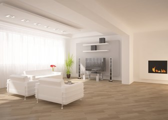 white minimal interior