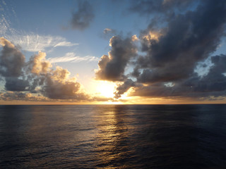 Sunset over sea, pacific