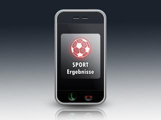 """Smartphone """"Sportergebnisse"""""""
