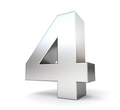 3D metal number 4