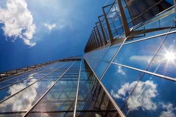 Fotobehang Aan het plafond Wolkenkratzer