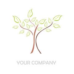 Logo sketch tree # Vector
