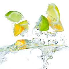 Acrylic Prints Splashing water citrus fruit splashing