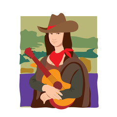 Mona Lisa Cowgirl
