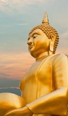 Buddha and the evening sky