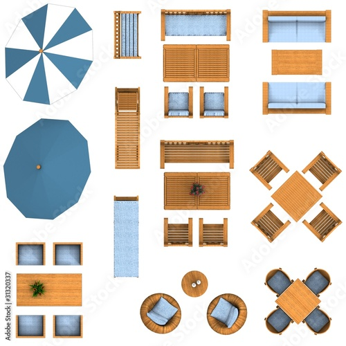 Quot Floor Plan Garden Furniture Set Quot Stock Photo And Royalty