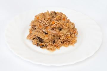 Stewed sauerkraut with meat