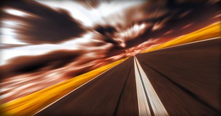 Blurred asphalt road
