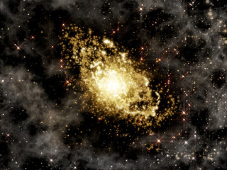 Galaxy, star clusters and gases as deep space background