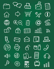 Web icons, buttons,board