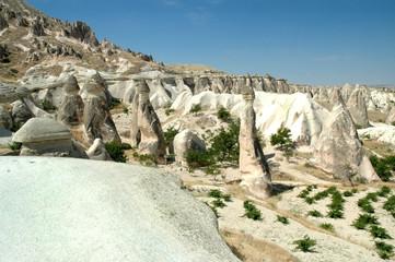 Ancient cave-town near Goreme, Cappadocia, Turkey