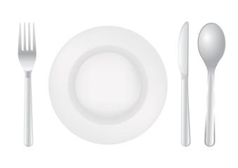 Cutlery spoon knife fork illustration