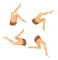 set of realistic woman legs - illustration