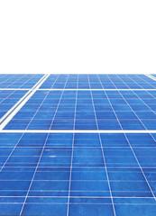 Pannelli solari con fondo bianco