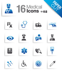 Paper Cut - Medical Icons 02