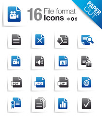 Paper Cut - File format icons 01