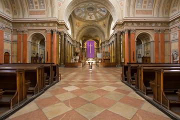 Beautiful majestic church interior.