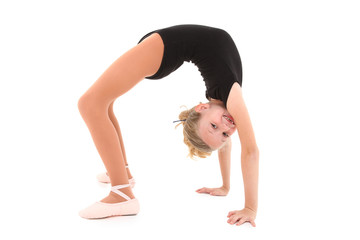 Ballerina Girl Back Bend with Clipping Path