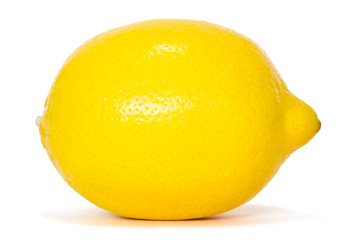 lemon over white background