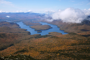 Lake Placid viewed from Whiteface Mountain, NY