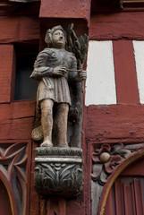 Les maisons médiévales à colombage du centre historique de Renne