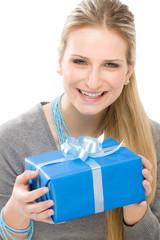 Present woman celebration hold happy