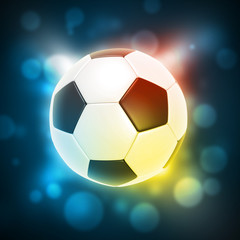 Glowing soccer ball