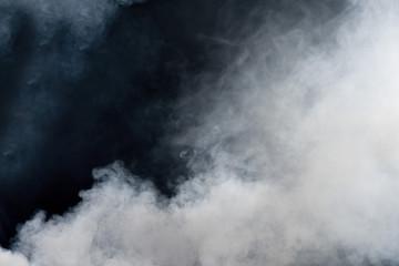 Garden Poster Smoke White smoke on black background. Isolated.