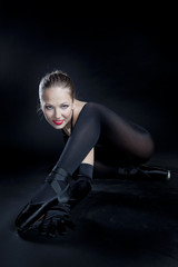 ballet dancer in black clothes