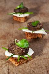 mini sandwiches made with whole grain bread