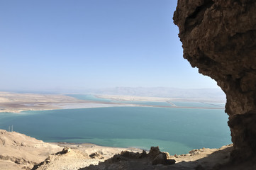 Dead Sea view from Judea mountains.