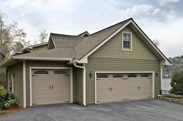 Garage Doors on a House