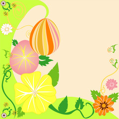 Easter Egg Floral Background 2
