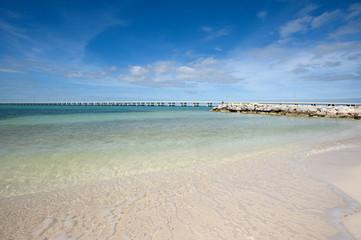 White sand beach in Bahia Honda state park, Florida