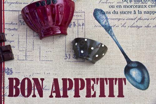 Buon appetito - poster per la cucina o la trattoria\