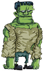 Cartoon Frankenstein monster