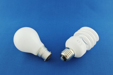 Old and New Light Bulbs