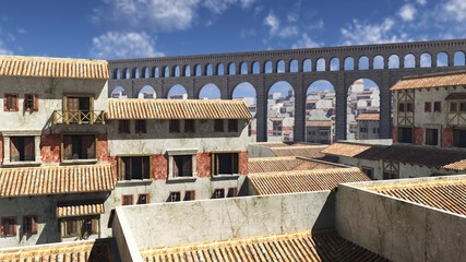 Fotomurales - View Over Ancient Roman Rooftops
