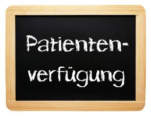Patientenverfügung - Konzept Tafel - freigestellt