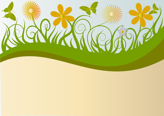 illustration background with flower